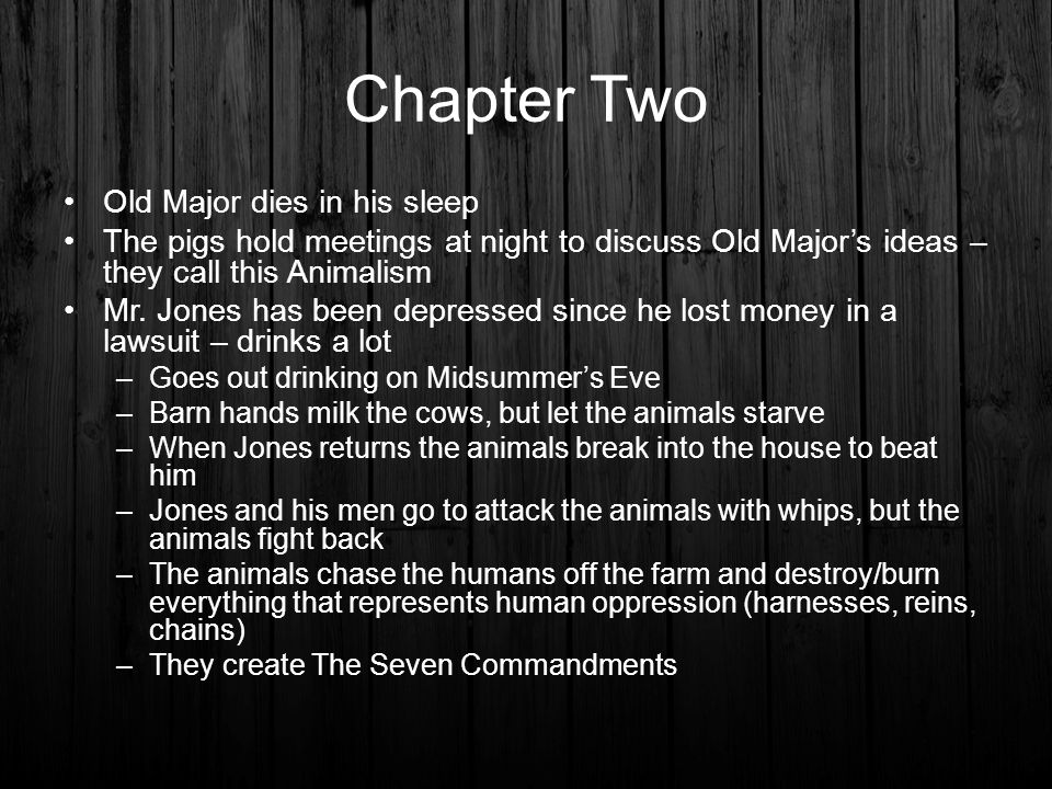 themes of animal farm chapter 2