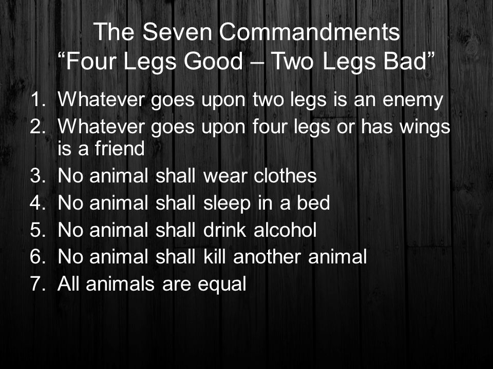 How Did the Seven Commandments Change in ''Animal Farm''?