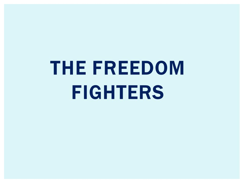 THE FREEDOM fighters
