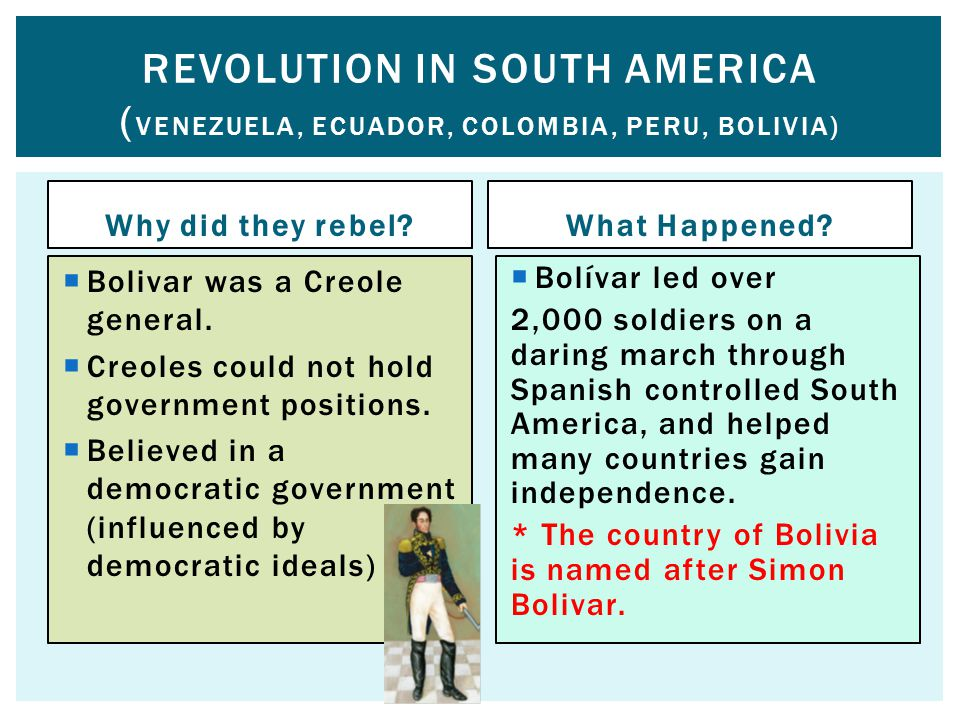 Revolution in SOUTH AMERICA (Venezuela, Ecuador, Colombia, Peru, Bolivia)