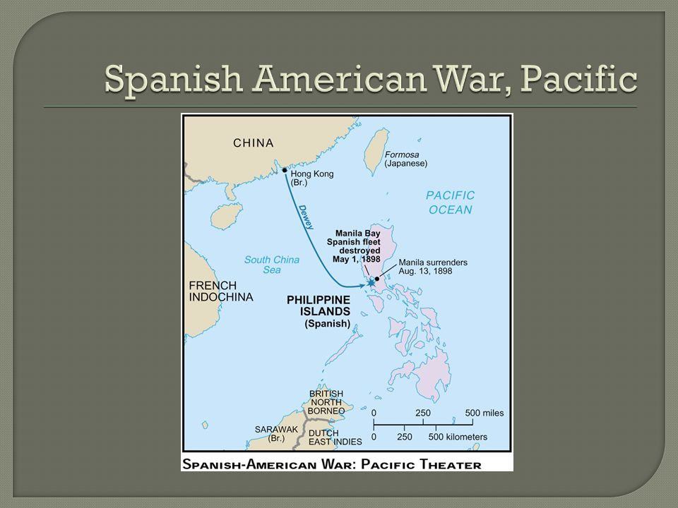 Spanish American War, Pacific