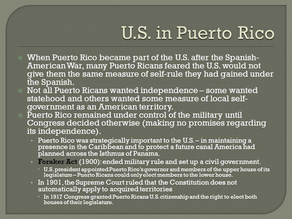 U.S. in Puerto Rico