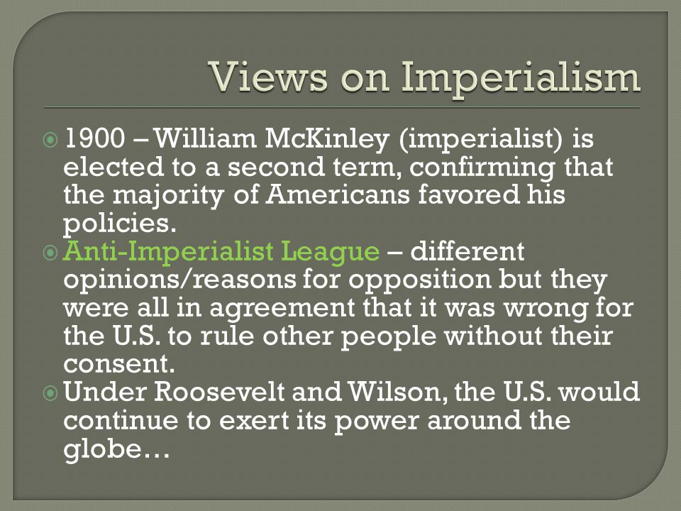 Views on Imperialism
