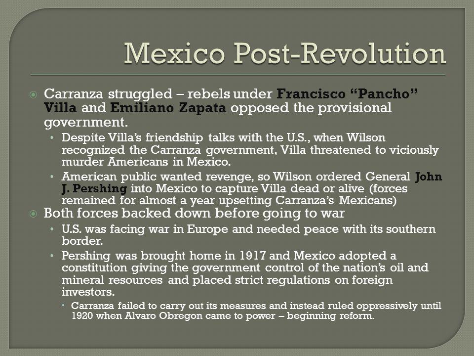 Mexico Post-Revolution