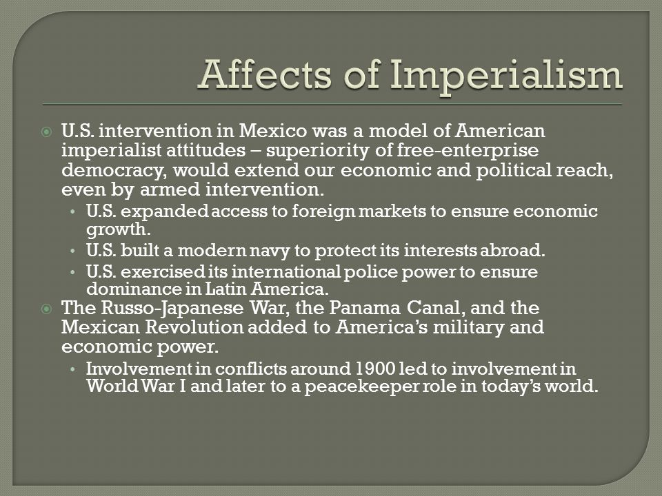 Affects of Imperialism