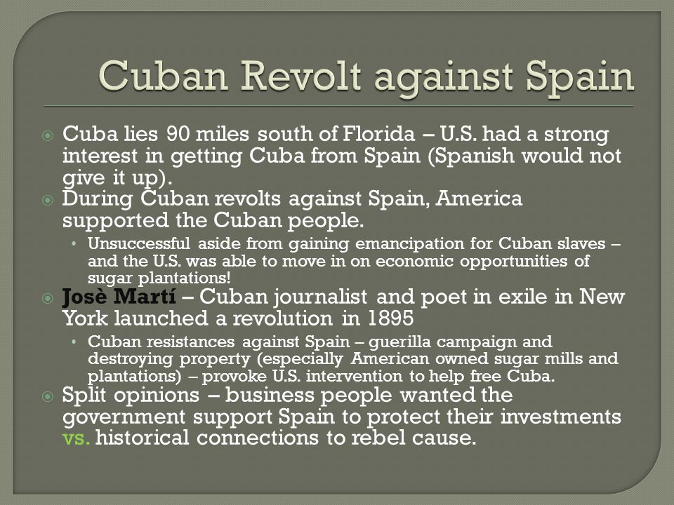 Cuban Revolt against Spain