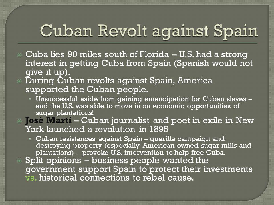 Cuban Revolt against Spain