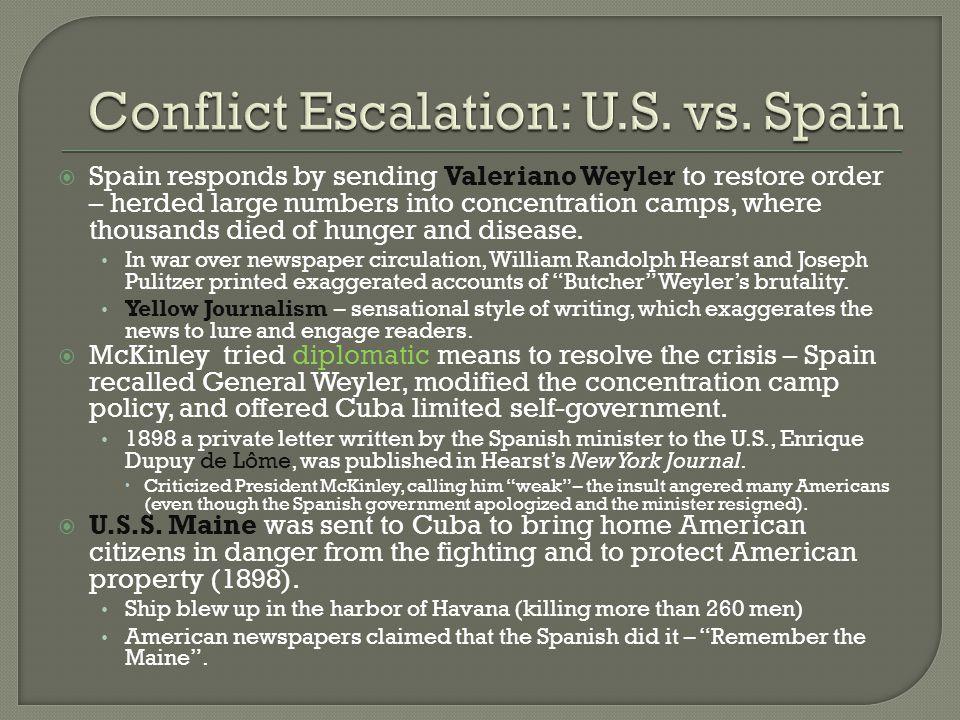 Conflict Escalation: U.S. vs. Spain