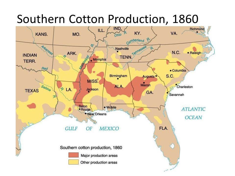 Southern Cotton Production, 1860