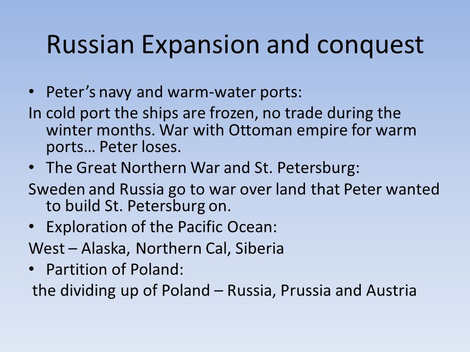 Russian Expansion and conquest
