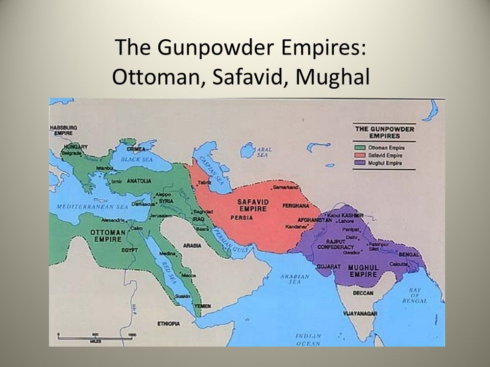 The Gunpowder Empires: Ottoman, Safavid, Mughal