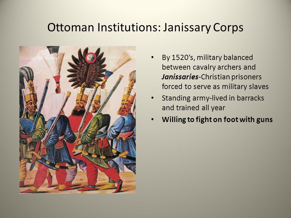 Ottoman Institutions: Janissary Corps