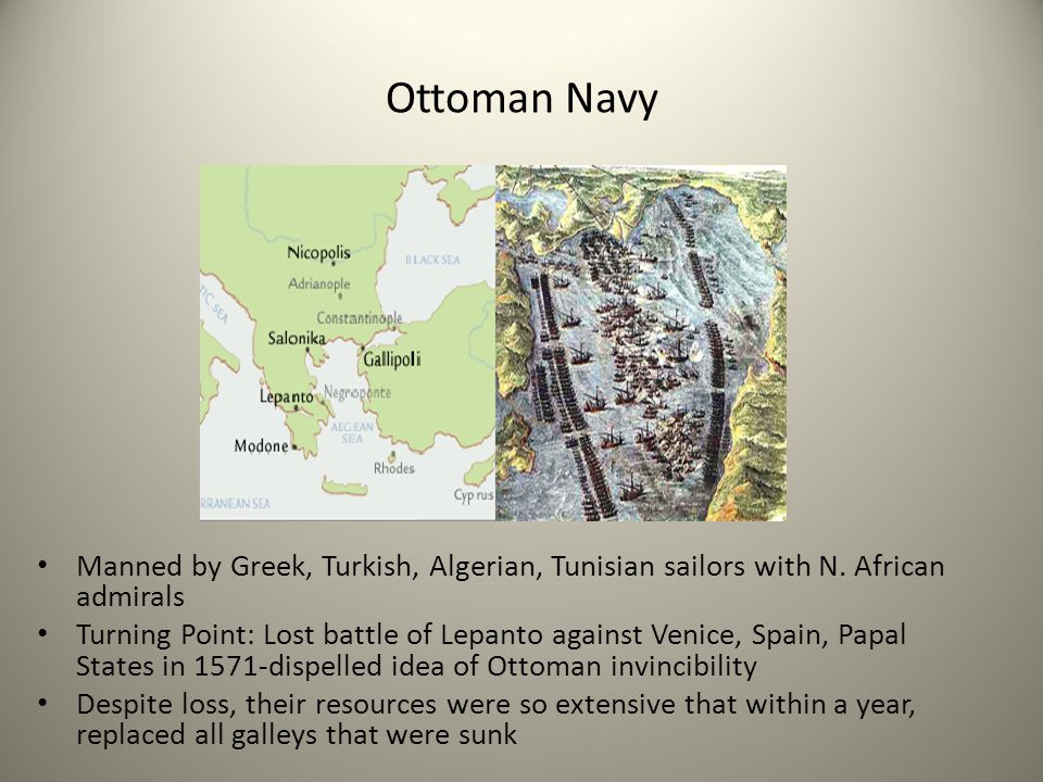 Ottoman Navy Manned by Greek, Turkish, Algerian, Tunisian sailors with N. African admirals.