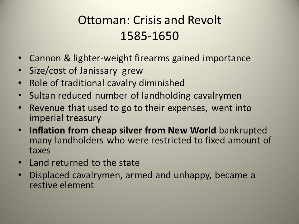 Ottoman: Crisis and Revolt 1585-1650