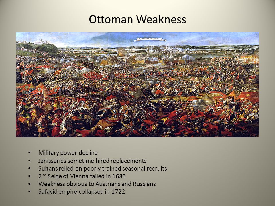 Ottoman Weakness Military power decline