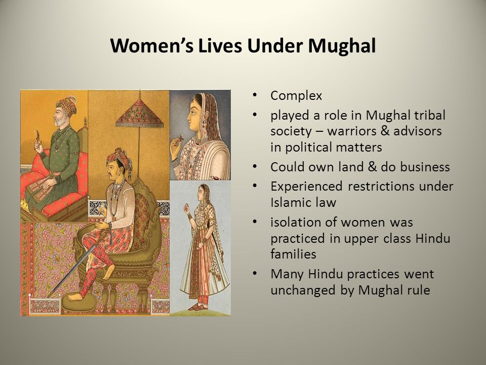 Women's Lives Under Mughal
