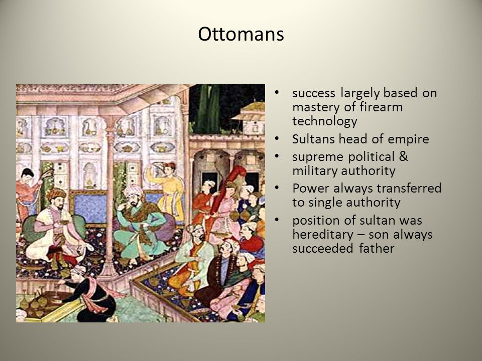 Ottomans success largely based on mastery of firearm technology
