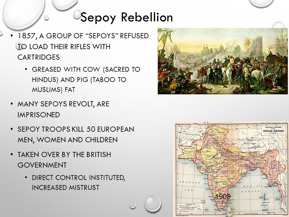 Sepoy Rebellion 1857, a group of sepoys refused to load their rifles with cartridges.
