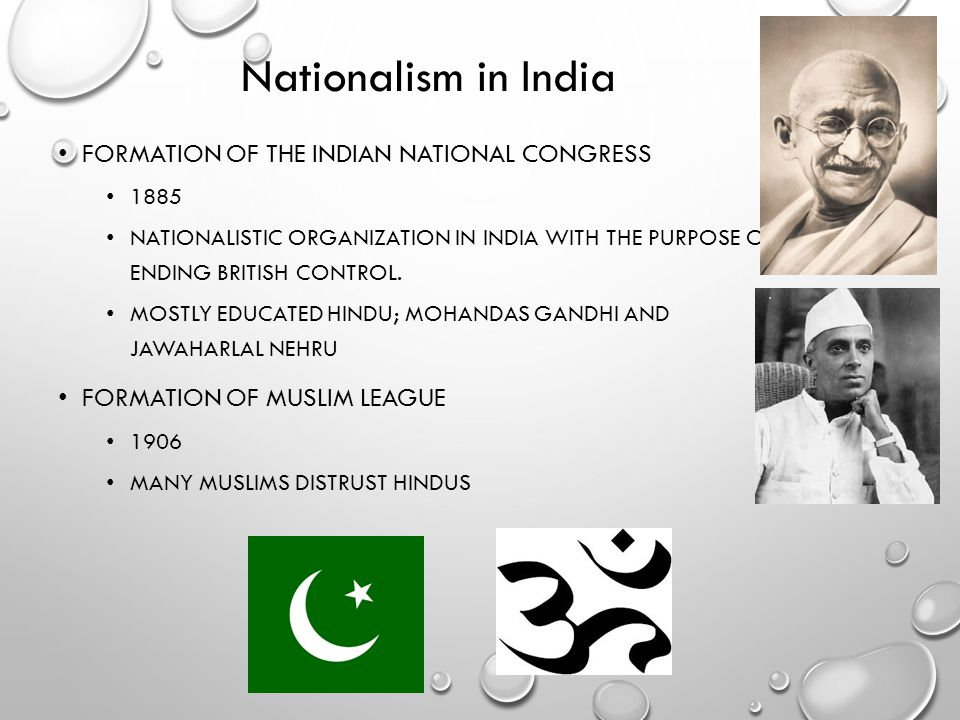Nationalism in India Formation of the Indian National Congress
