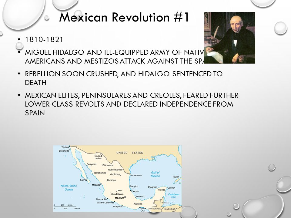 Mexican Revolution #1 1810-1821. Miguel Hidalgo and ill-equipped army of Native Americans and mestizos attack against the Spaniards.