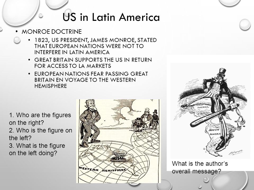 US in Latin America Monroe Doctrine