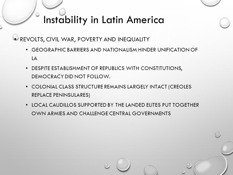 Instability in Latin America