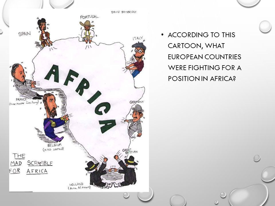 According to this cartoon, what European countries were fighting for a position in Africa