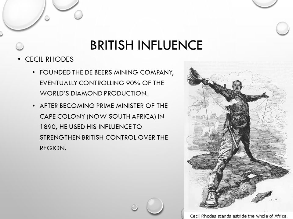 British influence Cecil Rhodes