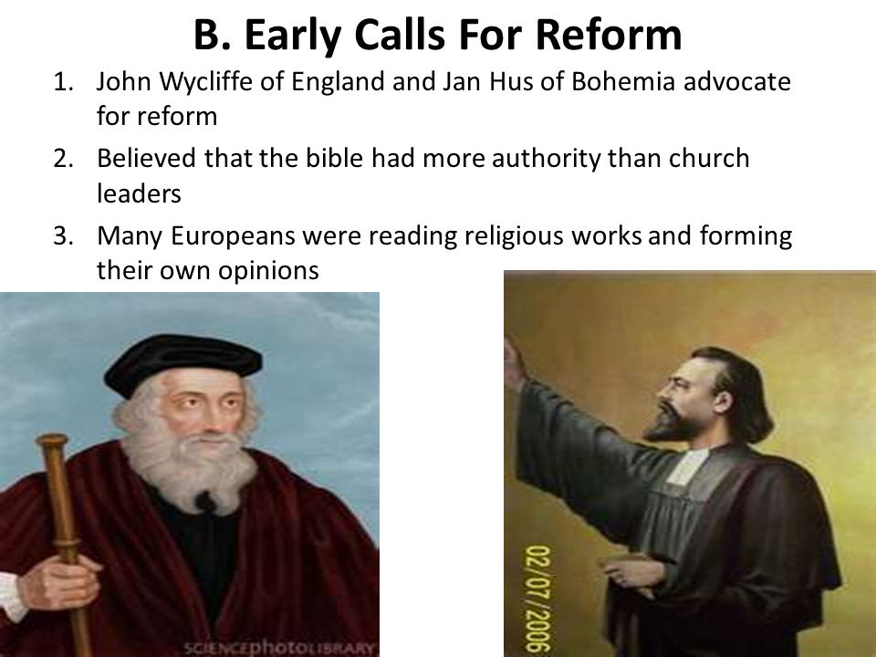 B. Early Calls For Reform