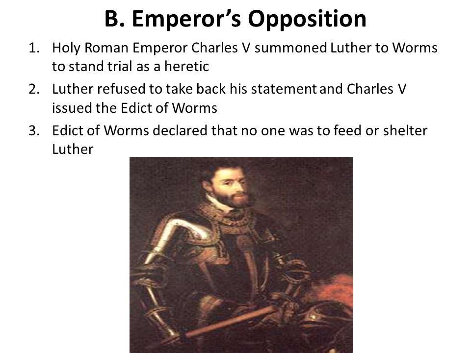 B. Emperor's Opposition