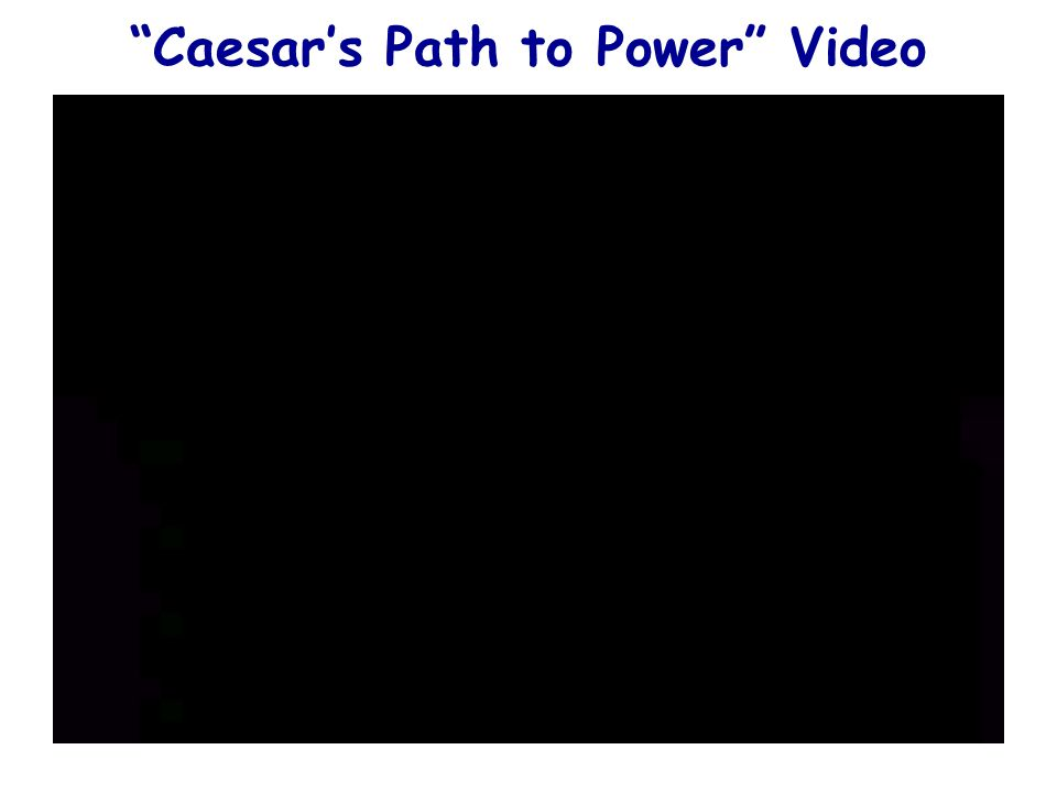 Caesar's Path to Power Video