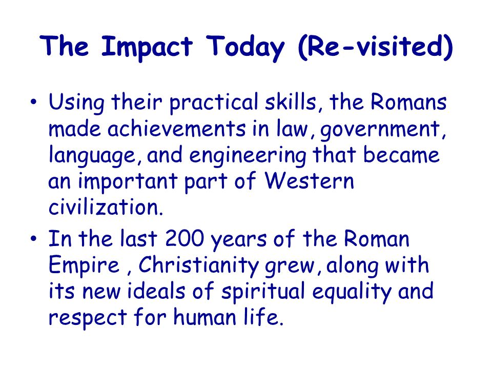 The Impact Today (Re-visited)