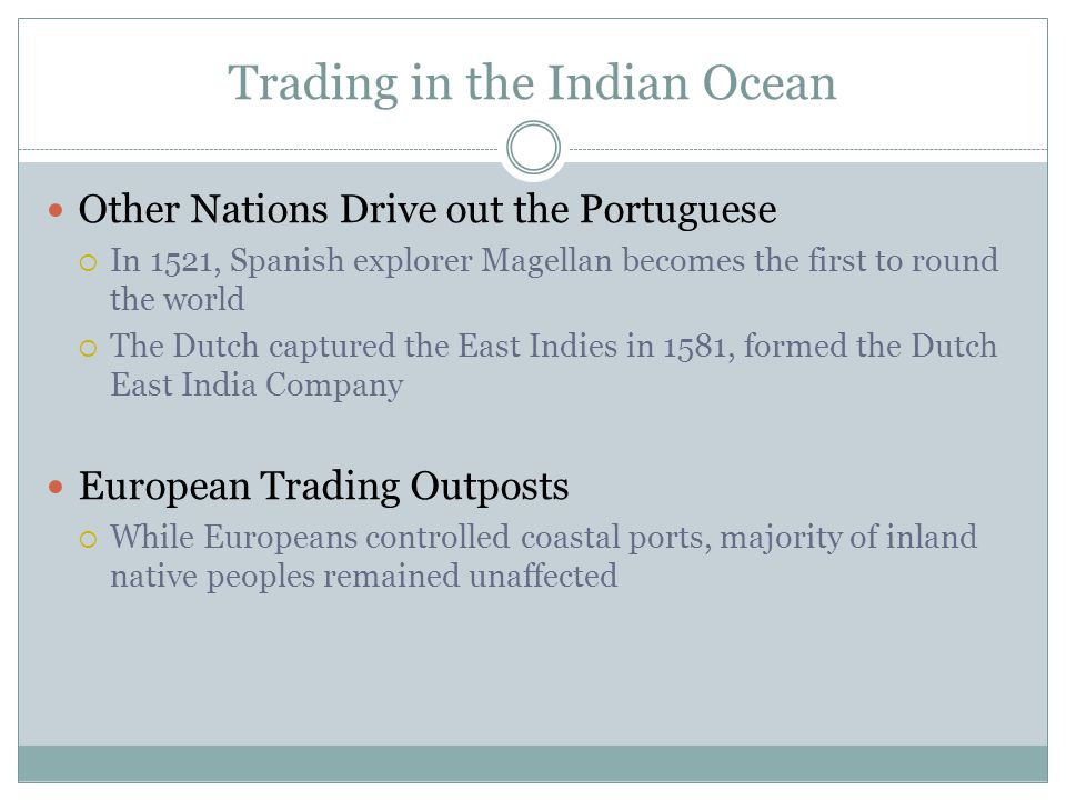 Trading in the Indian Ocean