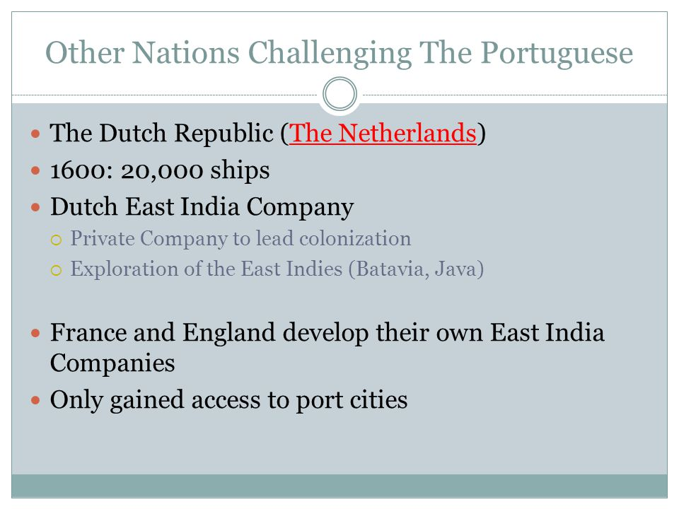 Other Nations Challenging The Portuguese