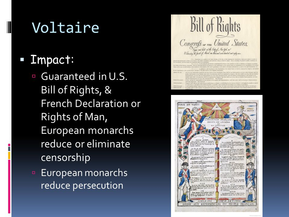 voltaires impact from the enlightenment to In terms of the history of ideas, voltaire's single most important achievement was   and this literary debate continued to influence his aesthetic views all through.