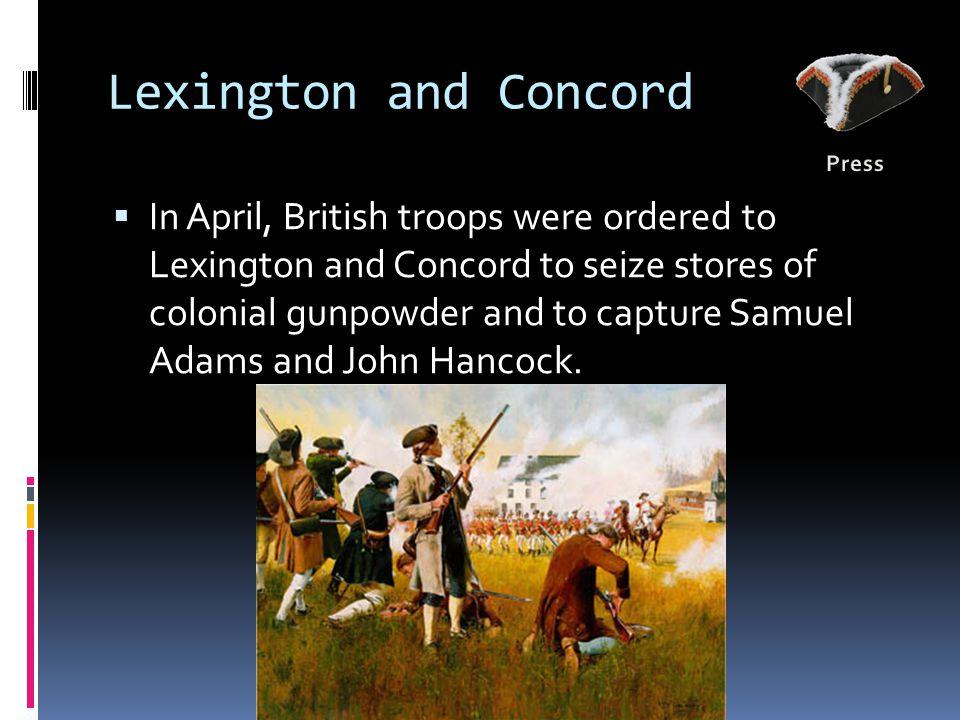 Lexington and Concord Press.
