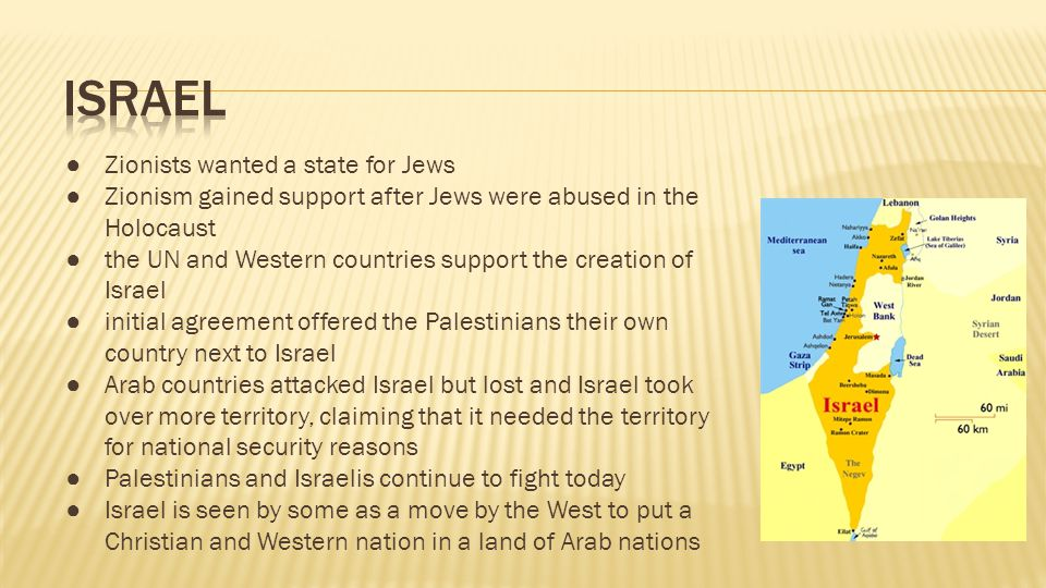 Israel Zionists wanted a state for Jews