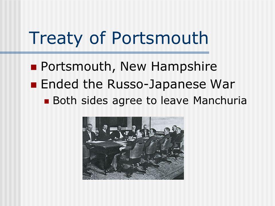 Treaty of Portsmouth Portsmouth, New Hampshire