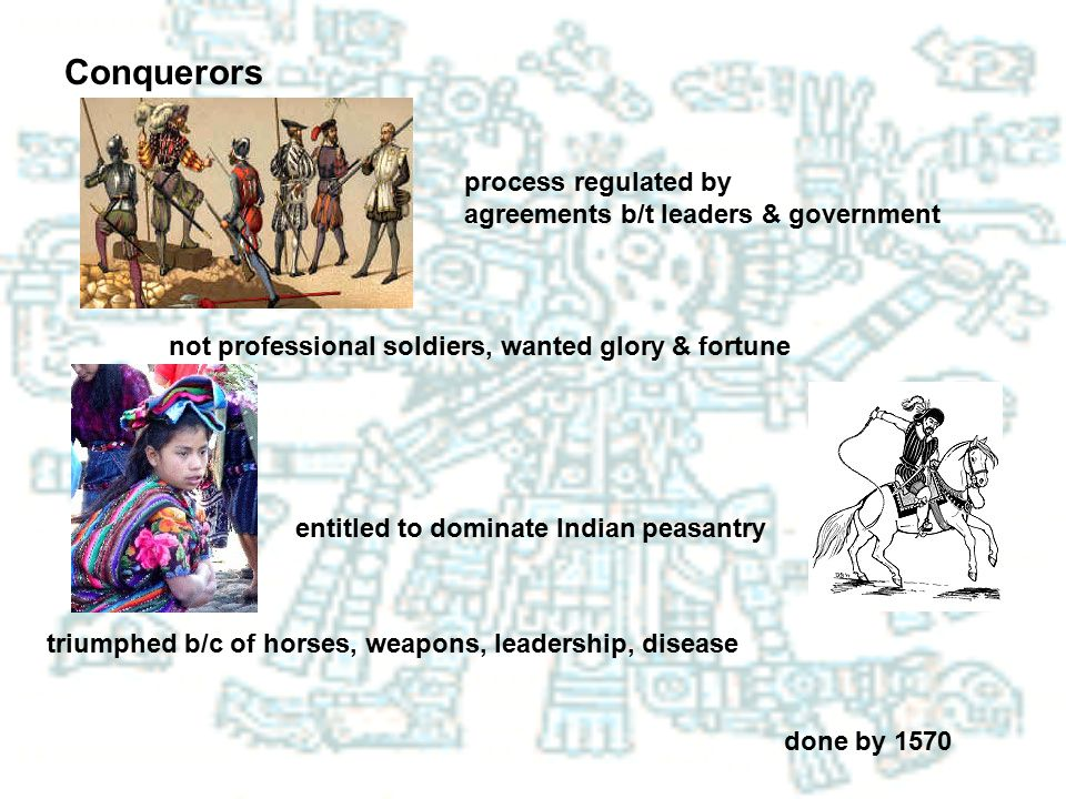 Conquerors process regulated by agreements b/t leaders & government
