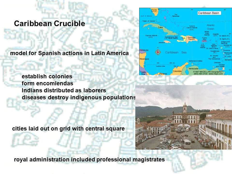 Caribbean Crucible model for Spanish actions in Latin America