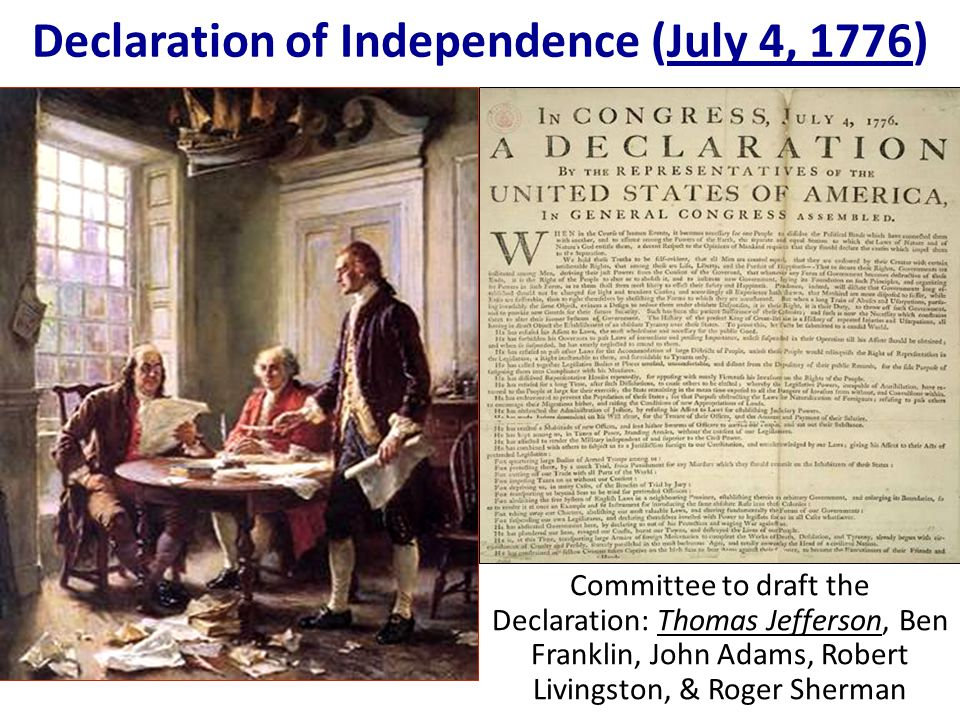 Declaration of Independence (July 4, 1776)
