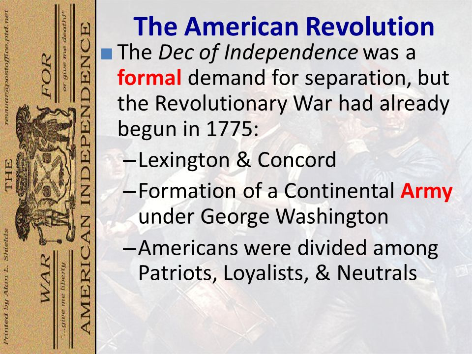 the american revolution began in 1775