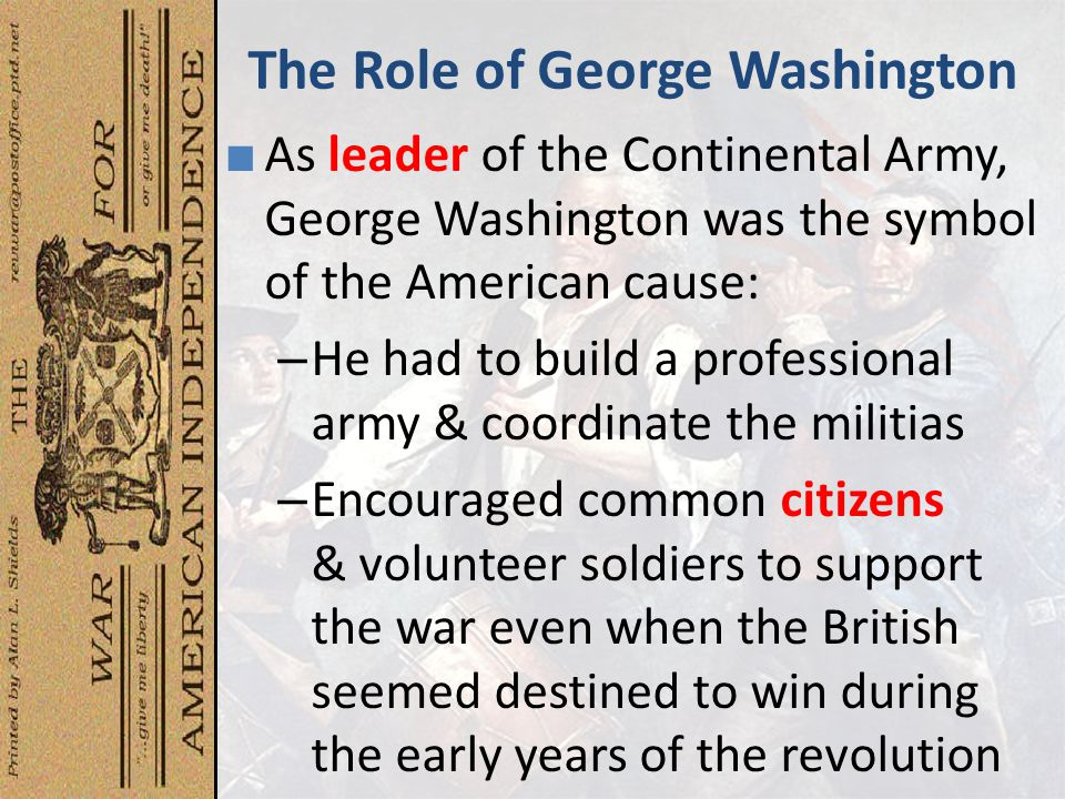 The Role of George Washington