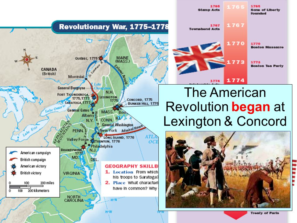 The American Revolution began at Lexington & Concord