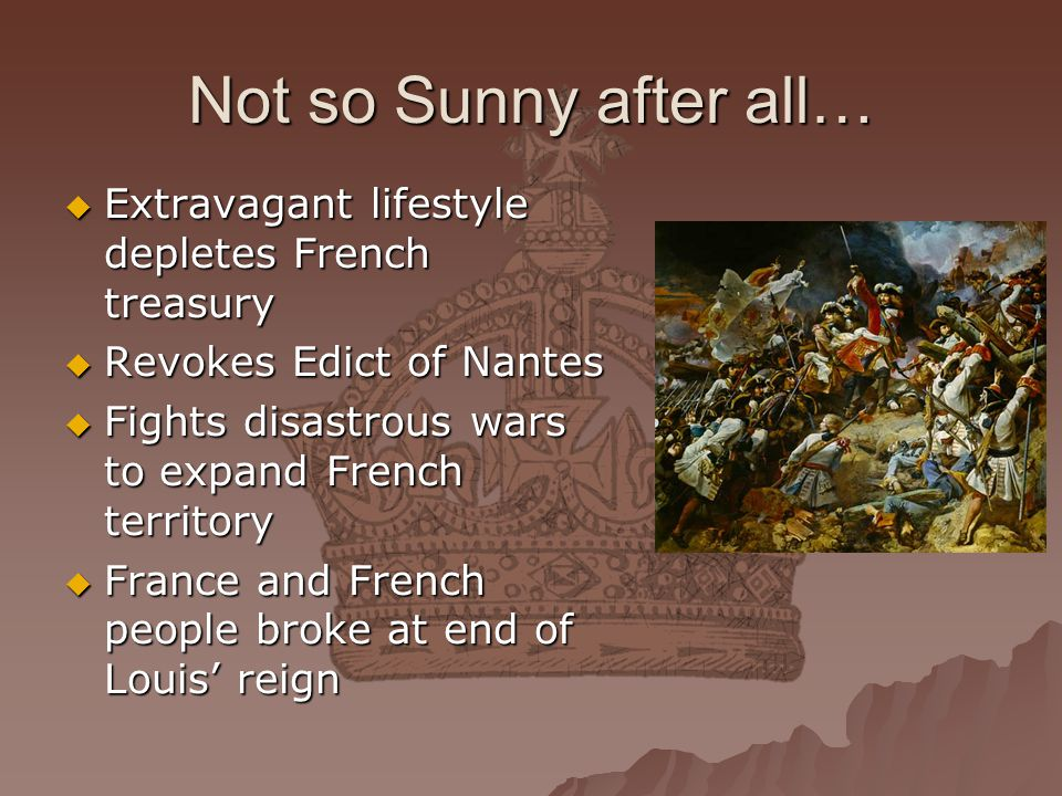 Not so Sunny after all… Extravagant lifestyle depletes French treasury