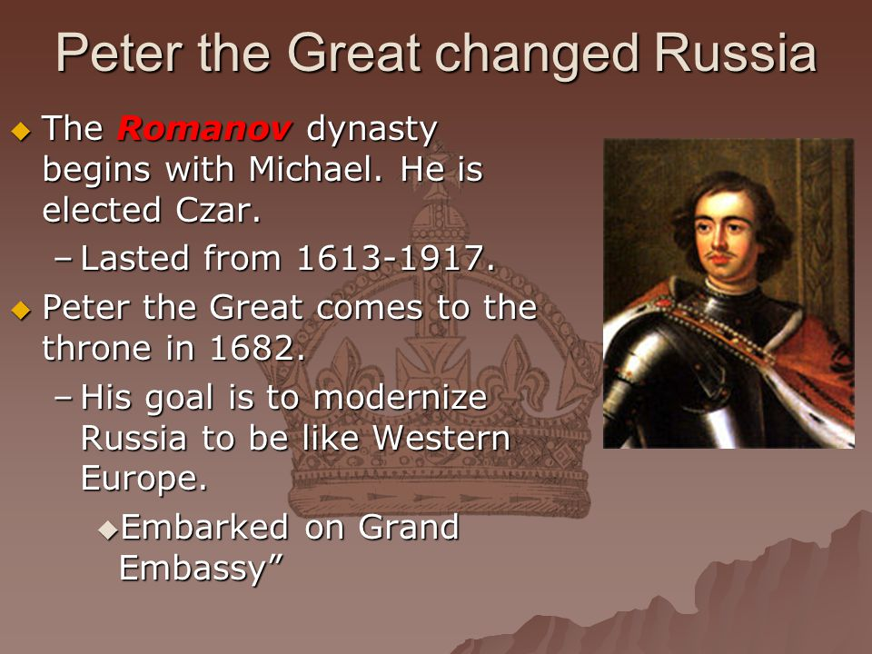 Peter the Great changed Russia