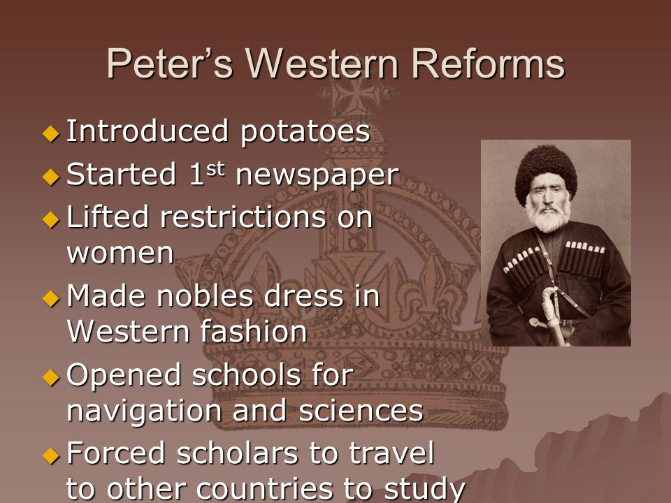 Peter's Western Reforms