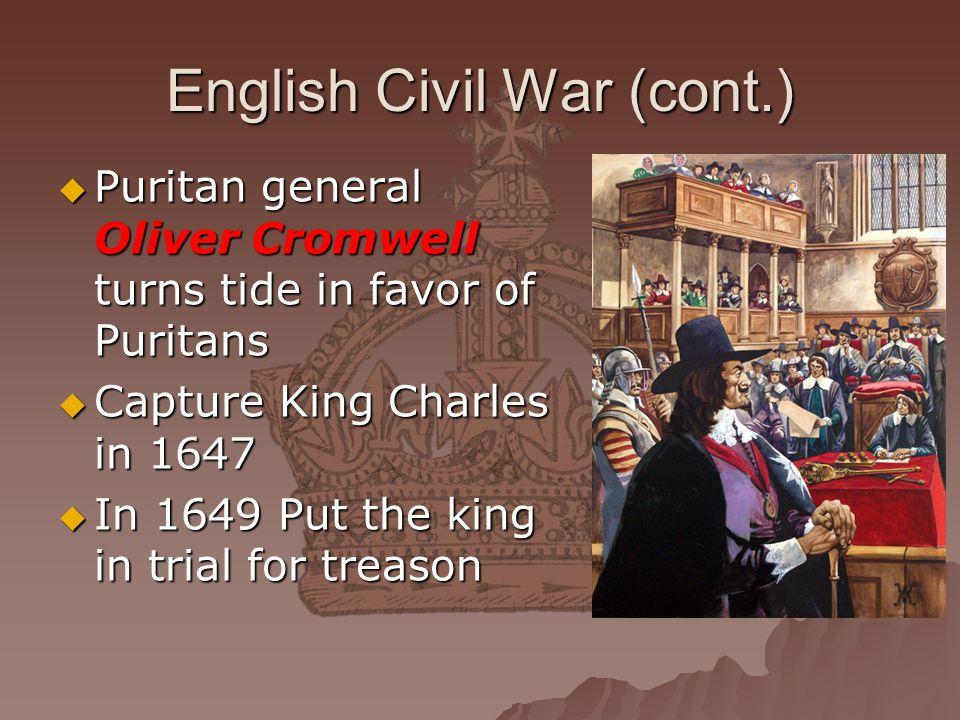 English Civil War (cont.)