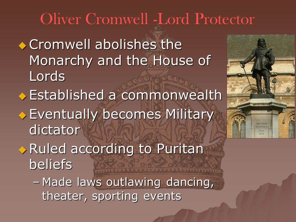 Oliver Cromwell -Lord Protector