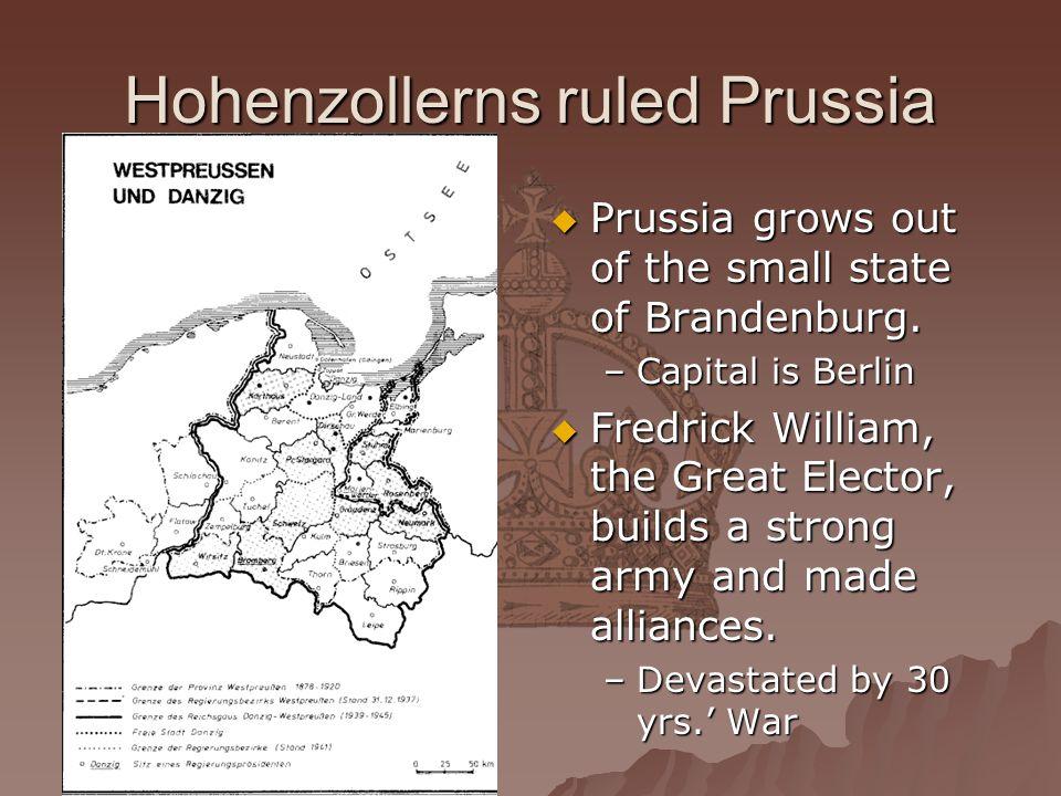 Hohenzollerns ruled Prussia